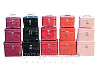 Кейсы для косметики и украшений лаковый 3 в 1, цвета в ассортименте