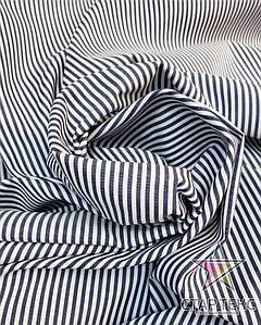 Рубашечная ткань полоска черно белая