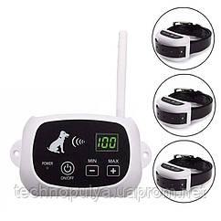 Беспроводной электронный забор для собак Pet KD-661 с 3-мя ошейниками Белый (100575)