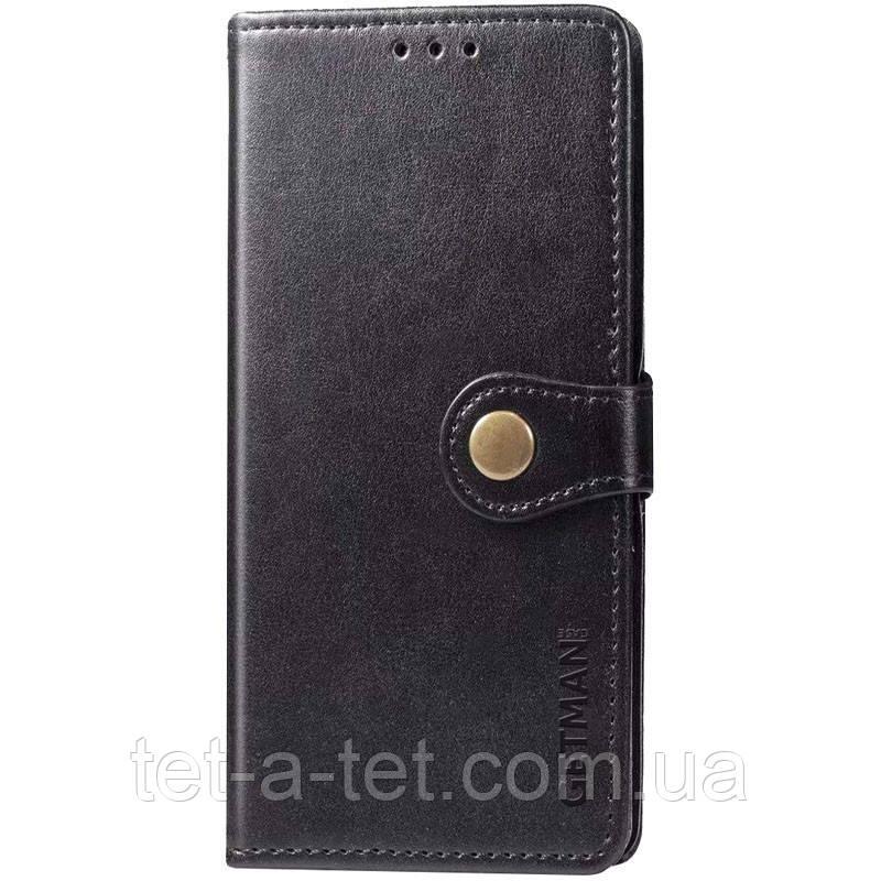 Шкіряний чохол книжка GETMAN Gallant для Samsung Galaxy A12 - Чорний
