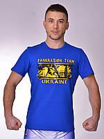 Мужская футболка с принтом PANKRATION TEAM Berserk Sport голубой
