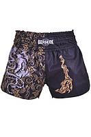 Мужские шорты с фирменной эмблемой для муай тай Berserk Sport черный