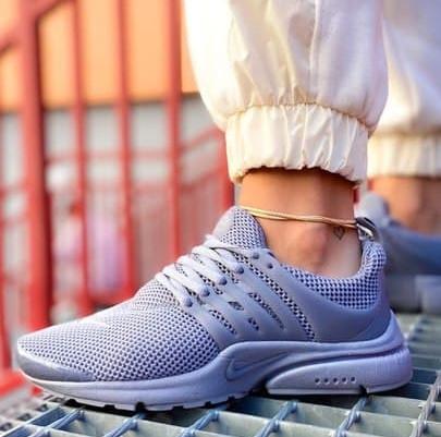 Женские кроссовки Nike Air Presto весна-осень-лето демисезонные в сетку сиреневые. Живое фото. Реплика
