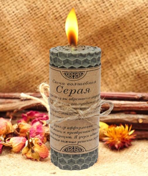 Чарівна свічка Сіра ручна робота