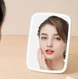 Зеркало для макияжа с подсветкой от Xiaomi YOUPIN JORDAN&JUDY Цвет Белый, фото 8