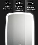 Зеркало для макияжа с подсветкой от Xiaomi YOUPIN JORDAN&JUDY Цвет Белый, фото 7