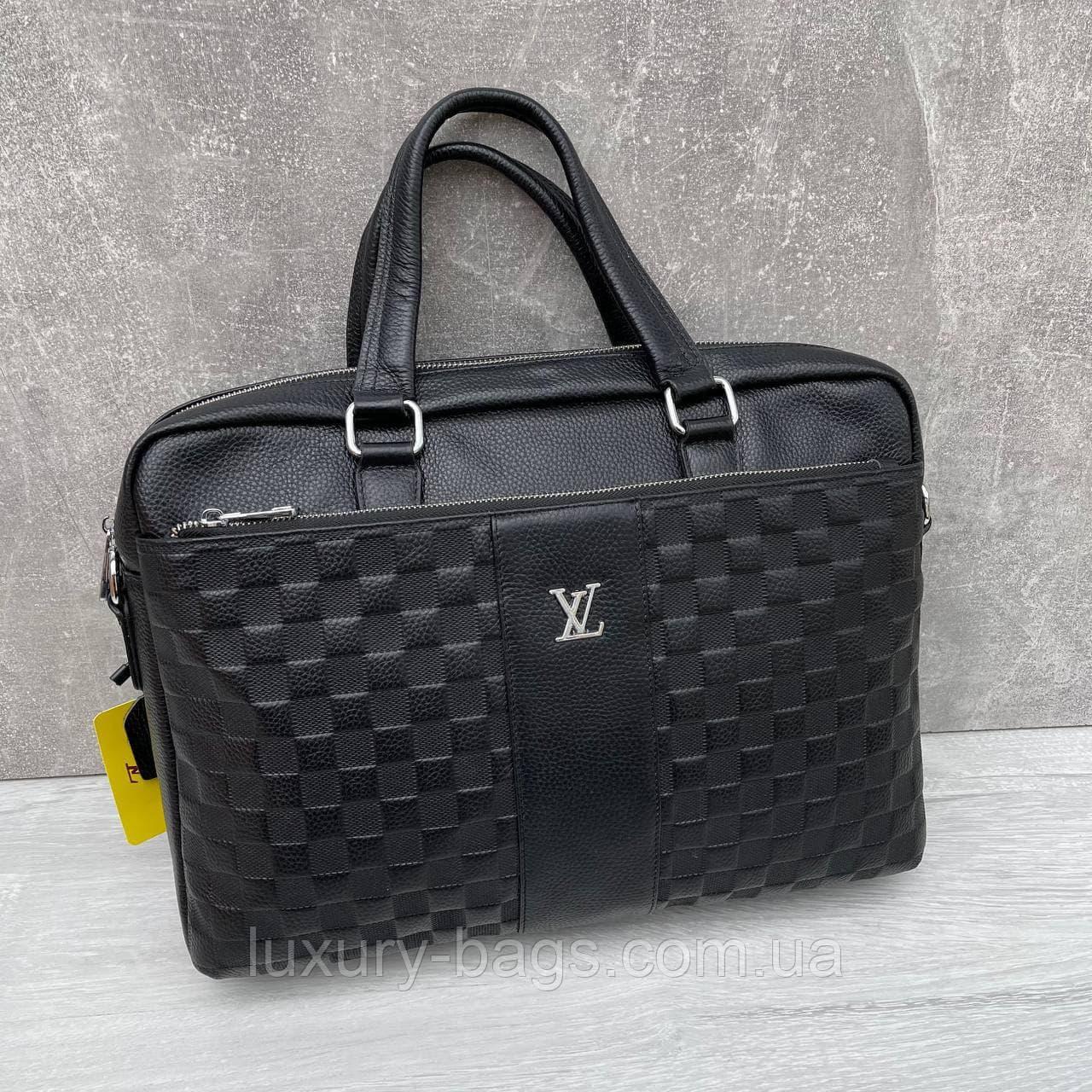 Чоловічий шкіряний портфель Louis Vuitton Луї Віттон