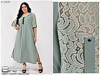Модное платье с капюшоном длинное , платье батал, платье большие размеры