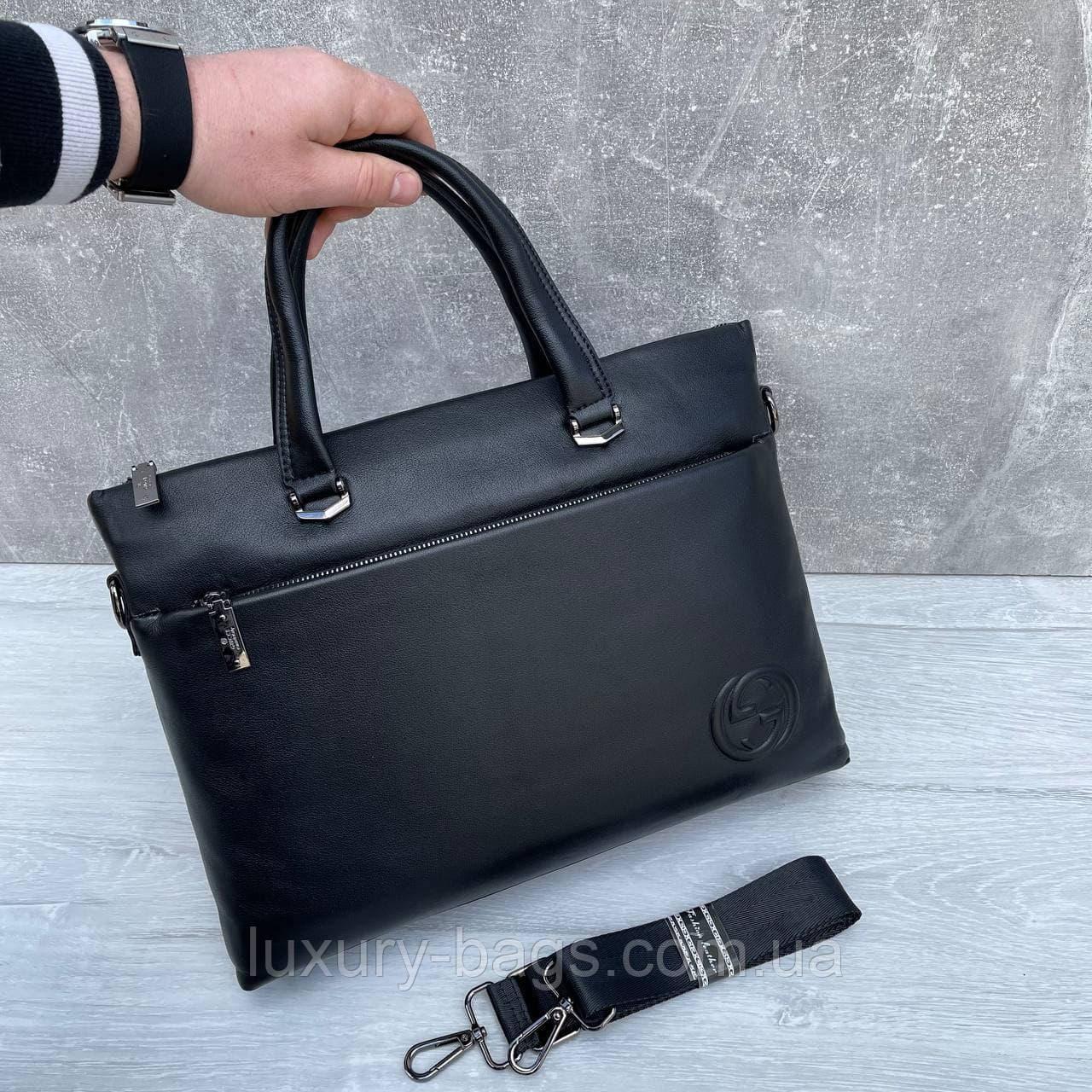 Мужской кожаный брендовый портфель