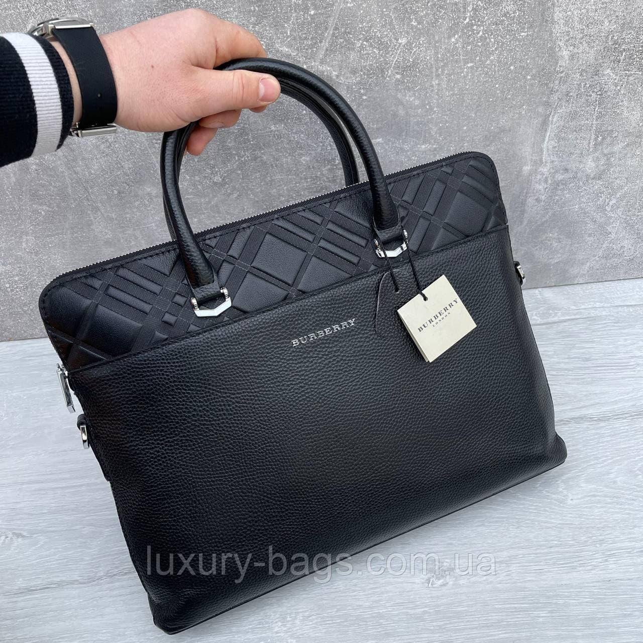Мужской деловой кожаный портфель Burberry