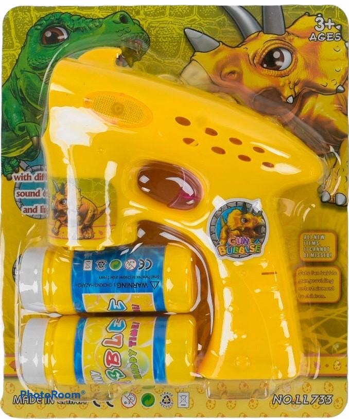 Пістолет для мильних бульбашок Dino Жовтий