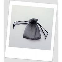 Мешочек из органзы ювелирный 12 см х 9 см чёрный