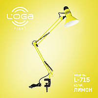 """Лампа настільна зі струбциною """"Лимон"""".(ТМ LOGA ® Light)"""