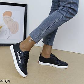 Кеды женские черные 4164