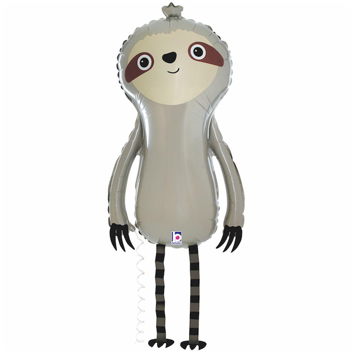 """BT 32"""" ХОД Ленивец. Фольгированный шар-ходячка ленивец"""