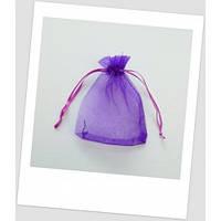 Мешочек из органзы  (12 х 9 см), насыщенно - фиолетовый