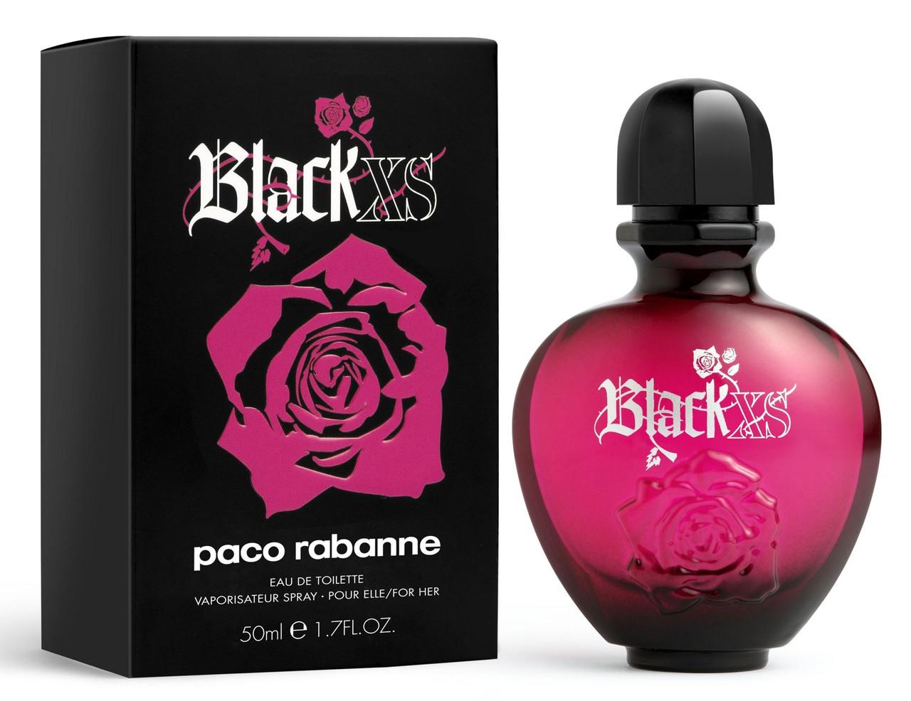 Жіноча парфумована вода Paco Rabanne Black XS For Her (Пако Рабан Блек Ікс Ес) 80 мл