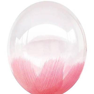 В105 Браш розовый 30 см. Шар воздушный латексный