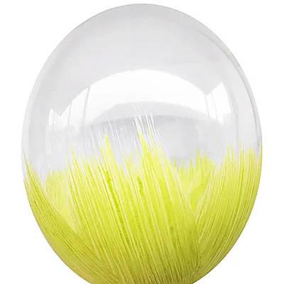 В105 Браш желтый 30 см. Шар воздушный латексный