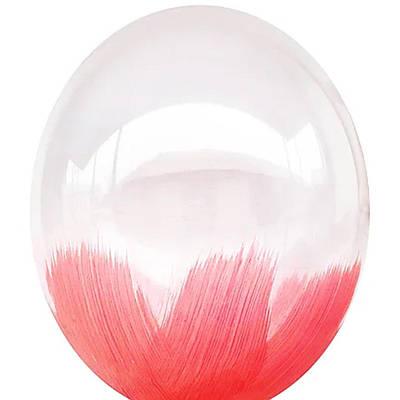 В105 Браш красный 30 см. Шар воздушный латексный