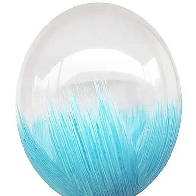 В105 Браш голубой 30 см. Шар воздушный латексный