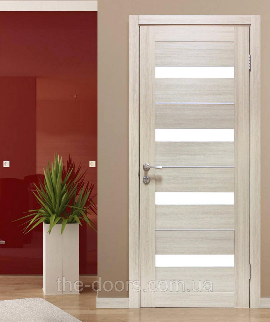 Двери ОМиС Милано стекло сатин с молдингом