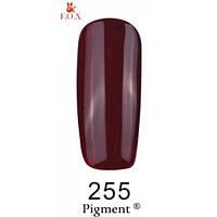 Гель-лак F.O.X. № 255 темная вишня, эмаль 6 ml