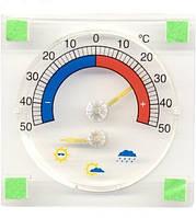 Термометр-барометр оконный с указателем погоды