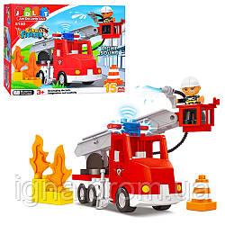 Конструктор JDLT 5150 Пожежна машина, 15 дет., муз., світло, кор., 32-29-9 см.