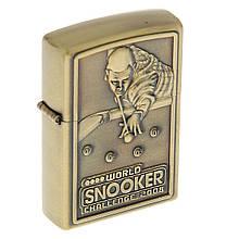 Зажигалка бензиновая «Snooker» бронза