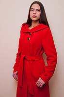 Кашемировое утепленное пальто  с капюшоном, фото 1
