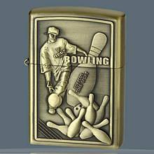 Зажигалка бензиновая «Bowling» бронза