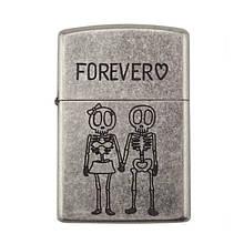 Зажигалка бензиновая Zorro серия Bones «Forever»
