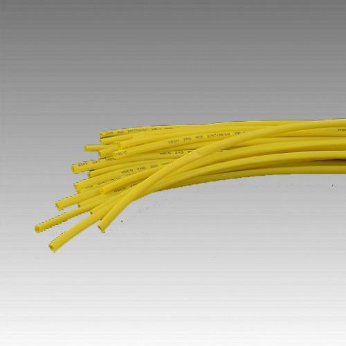 Термоусаживаемая трубка 2мм желтый (пак 1м*30шт)