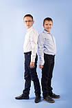 Сорочка біла дитяча 92, на кнопках з довгим рукавом SmileTime, фото 7