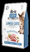 Корм Brit Care GF Large Cats для крупных котов (курица и утка), 2 кг