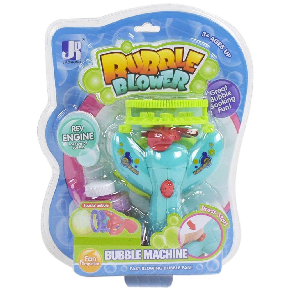 Пістолет з мильними бульбашками Bubble Blower Блакитний на батарейках