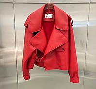 Жіноча стильна куртка-косуха з еко-шкіри