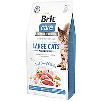 Корм Brit Care GF Large Cats для крупных котов (курица и утка), 7 кг