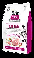 Корм Brit Care Cat GF Kitten для котят (с индейкой и курицей), 7 кг