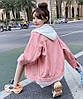 Яскрава жіноча джинсовці з капюшоном 42-46 (в кольорах), фото 7