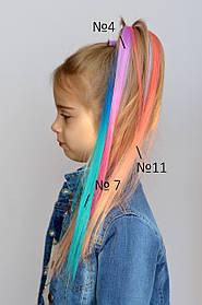 Цветная прядь волос на клипсе Двухцветная прядь на клипсе заколке тик-так