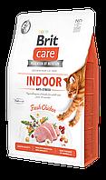 Корм Brit Care Cat GF Indoor Anti-stress (курица), 2 кг