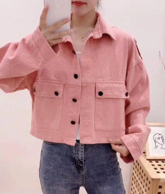 Укороченная джинсовая куртка стильная 42-44 (в расцветках)
