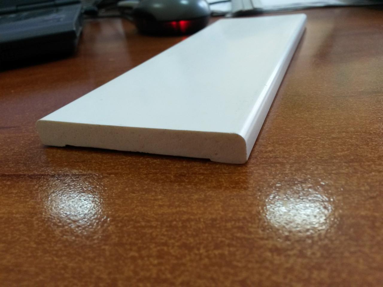 Наличник пластиковый белый Ideal 70/2200 мм
