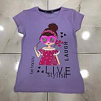 Детская футболка LIVE STYLISH для девочек 4-8 лет,цвет уточняйте при заказе, фото 1