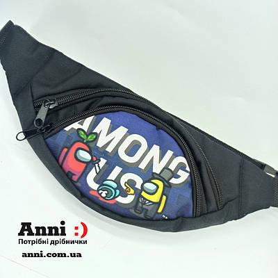 Молодежная поясная сумка - бананка (12*29) Модель 18-6
