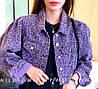 Укорочена леопардова джинсовці стильна 42-44 (в кольорах), фото 2