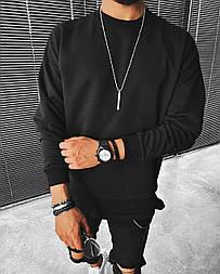 Свитшот - Стильный мужской Топовый свитшот на весну / чоловічий стильний світшот на весну чорний