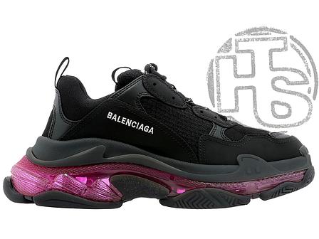 Женские кроссовки Balenciaga Triple S Clear Sole Black Pink Neon 541624W2FR11053, фото 2